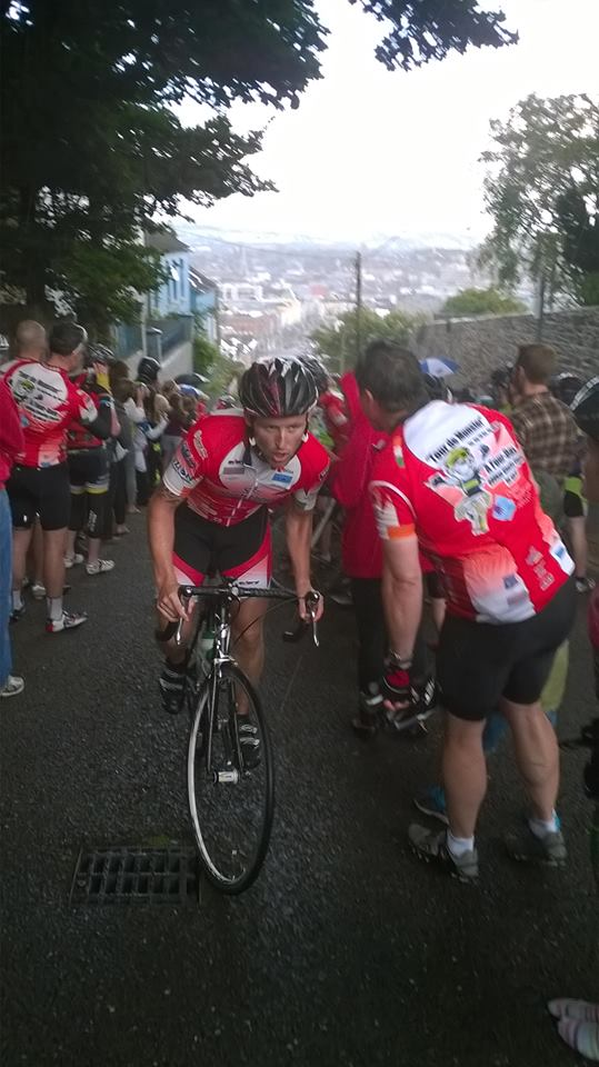 Chris Kelly at the top of Patricks Hill