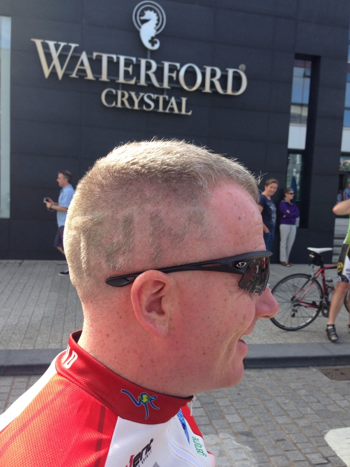 Mick O Shea got a special haircut for the tour