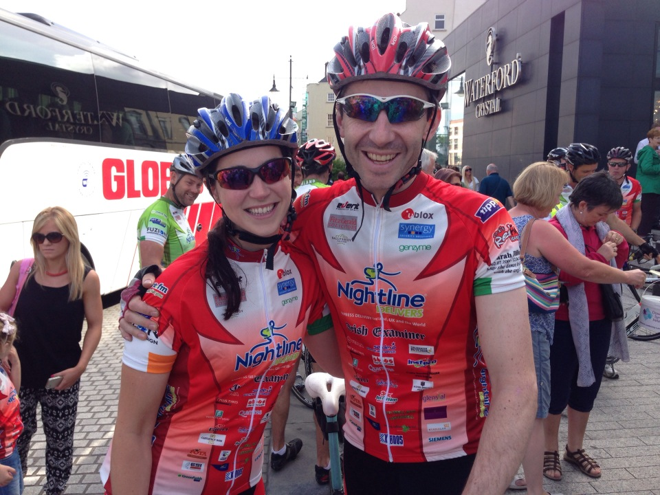 Pat dalton and Eimear Walsh at the start in Waterford