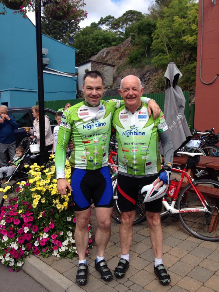 Twelve months ago Tour de Munster Day 4 2013 in Glengarriff- Liam said to Caoimhin I'll do the Tdm next year and I'll give you the loan of a bike and here they are Tour de Munster 2014 - sooooo proud xxx Ali